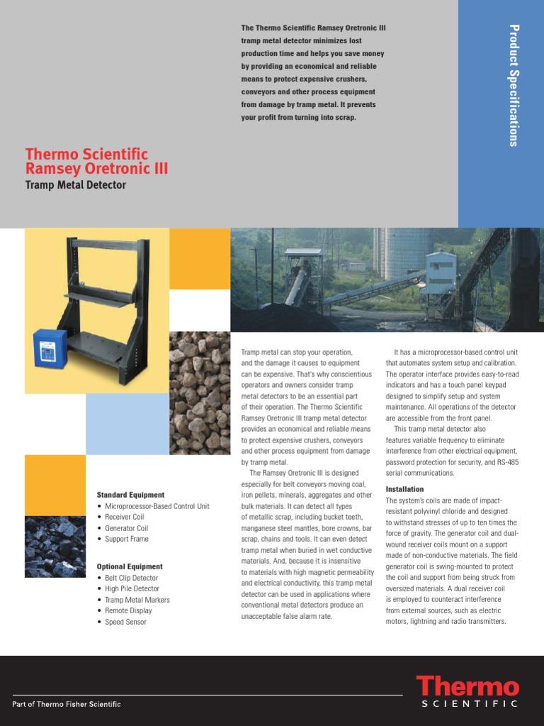 productPDF_8096 | Metal Detector | Relay