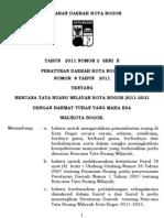 Perda Rtrw No 8 Th 2011 Kota Bogor