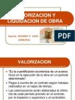 5 Valorizaciones y Liquidación de Obra