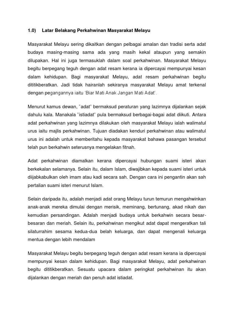 Perkahwinan Masyarakat Melayu
