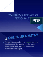 Evaluacion de Metas Personales