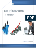 Free share Market Tips and Recommendations by-The-Equicom for 26-july 2013