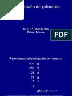 Factorizacin de Polinomios 16426