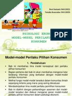 Psikologi Ekonomi - Model-model Perilaku Konsumen