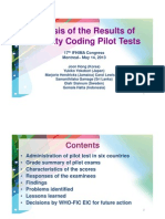 Analysis of the Results of Morbidity Coding Pilot Tests