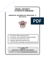 Admission Information Brochure IV
