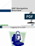 SAP Navigation Overview