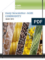 Daily Agri News Letter 26 July 2013