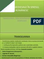 Constituirea Statelor Medievale Romanesti