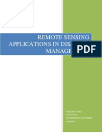 Remote Sensingement applications in Disaster Managmenr