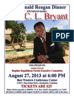 2013 Ronald Reagan Dinner - Featuring Rev. C. L. Bryant | August 27, 2013