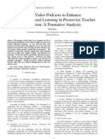 Using Video Podcasts to Enhance Technology-Based Learning in Preservice Teacher Education