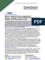 Pressemitteilung vom Berliner Wassertisch vom 26. Juli 2013