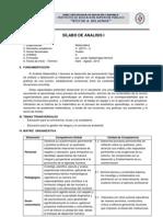 Silabo Analisi i - 2013