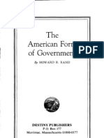 Howard B. Rand The American Form Of Government