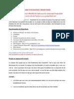 Guide d'Utilisateur Projectfork FR