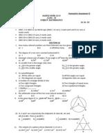 Mathematics Guess Paper Class Ix