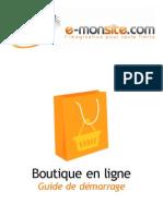 Guide de Demarrage Boutique Fr