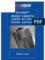 DuraGal - Design Capacity Tables for Steel Hollow Sections