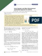 La Ecuacion de Nernst y Otros Conceptos Electroquimicos 20865