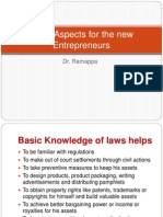 Legal Aspects for the New Entrepreneurs1