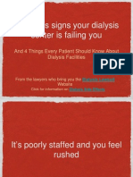 4 Serious signs your dialysis center is failing you