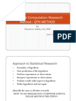 Statistical Computation Research Method1
