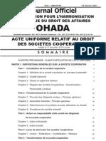 2011 Ohada Acte Uniforme Cooperatives