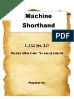 Machine Shorthand Lesson 10