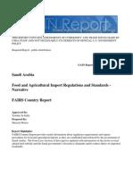 Saudi Arabia Food and Agricultural Import Regulations and Standards - Narrative Riyadh Saudi Arabia 12-27-2011