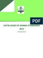 Catalogue of Ghana Standards 2012