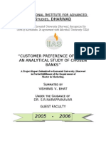 CUSTOMER PREFERENCE of ATMs an Analytical Study of Selected Banks