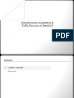 Jayanth K - Telecom Profile Overview