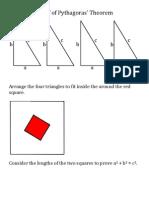 Proof of Pythagoras' Theorem
