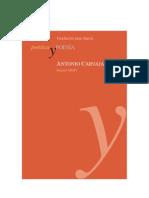 Antonio Carvajal Poetica y Poesia