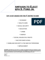 Tennessee's 9th District Congressional Candidate Platform for Joe Ford, Jr.