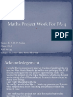 Maths Project Work for FA-4