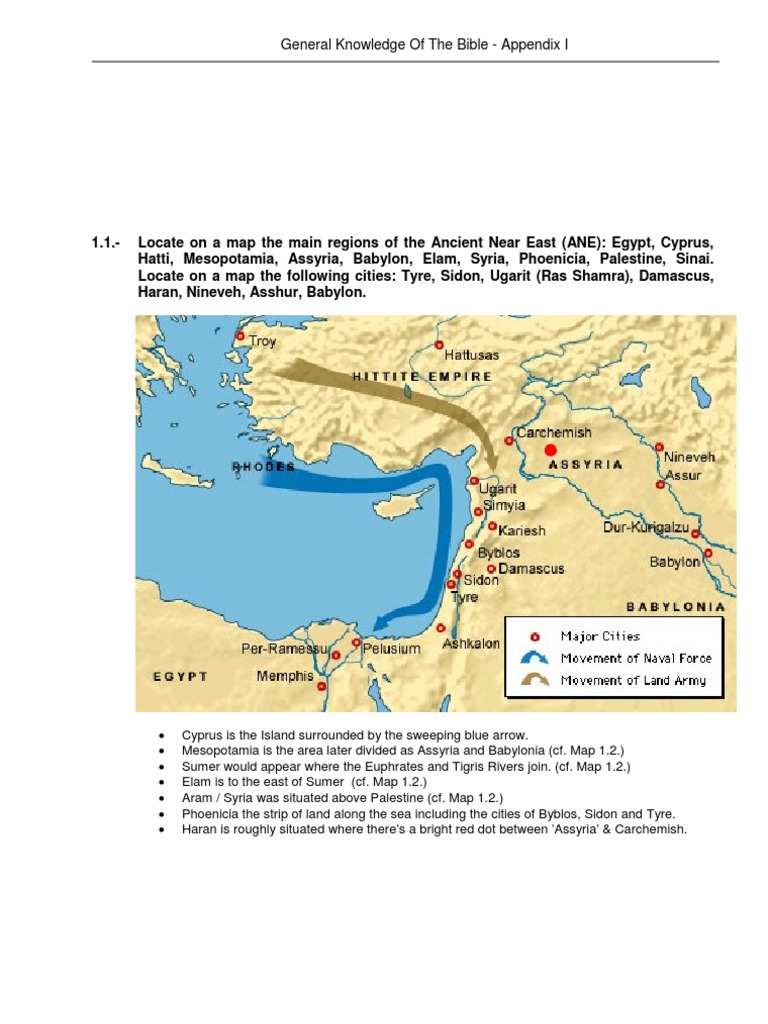 Maps - Gen  Kn  of the Bible | Assyria | Hittites