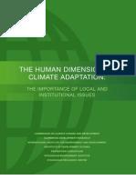 Human Dimensions Climate Adaptation