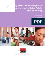 IncreasIng access to FamIly JustIce  through comprehensIve entry  poInts and InclusIvIty