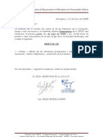 Orden del Dia Asamblea de la Coordinadora de Representantes de Estudiantes de las Universidades Públicas CREUP