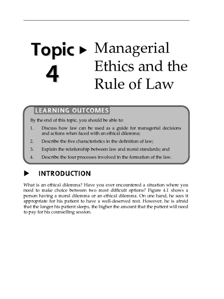 managerial ethics definition