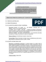 Especificaciones Tecnicas Alcantarillado y Laguna de Oxidaci