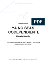 Melody Beattie Ya No Seas Codependiente