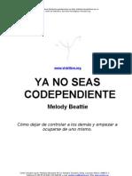 Melody Beattie Ya No Seas Codependiente