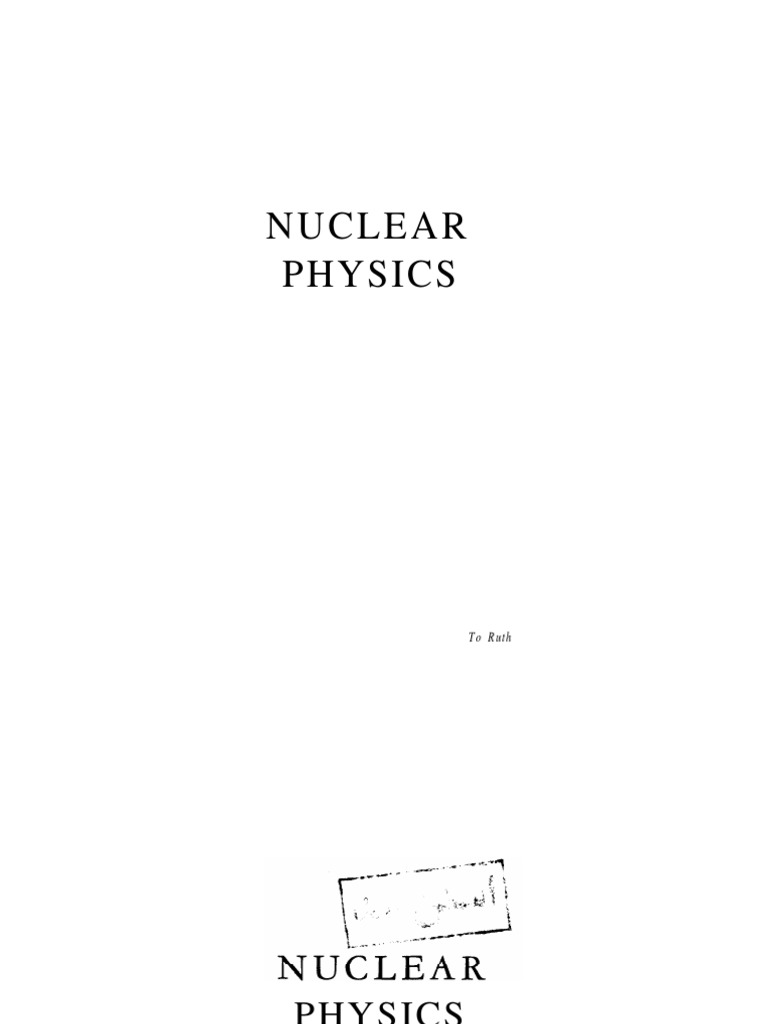 Kaplan nuclear physicspdf atomic nucleus gases fandeluxe Image collections