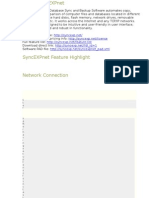 SyncEXPnet Key Features