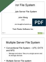 Twin Peak Software Mirror File System