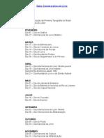 Datas Comemorativas do Livro.doc