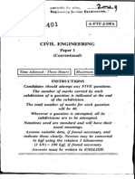 Engg Services Civil Engineering Subjective Paper 1 2009